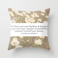 Decorate your own soul Throw Pillow by Courtney Burns
