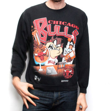 TAZ looney tunes CHICAGO BULLS basketball sweatshirt
