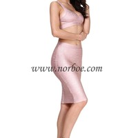 Norboe Rose Metallic Bandage Dress_Two piece_DRESS_NORBOE