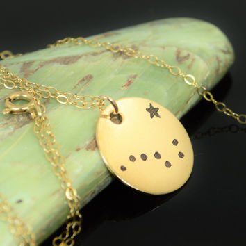 Gold Filled Big Dipper Necklace