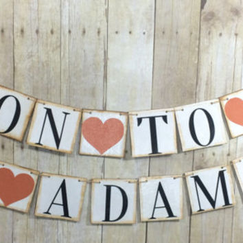 Soon to Be Mrs last name CUSTOM Banner / Wedding Photo Props / Bridal Shower Signs / Baccalaureate Banner