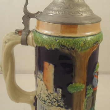 Albert Jacob Thewalt Beer Stein 1907-1920 Mark
