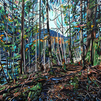 """Canvas Print Lynn Valley Forest Painting 16x12"""", 40x30"""" or 48x36"""""""