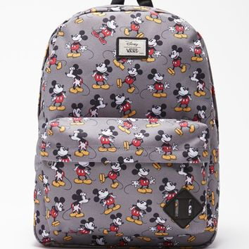 Vans - Disney Old Skool II Mickey Mouse School Backpack - Mens Backpacks - Gray - NOSZ