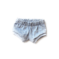 Organic Baby Shorties in Acid Jean