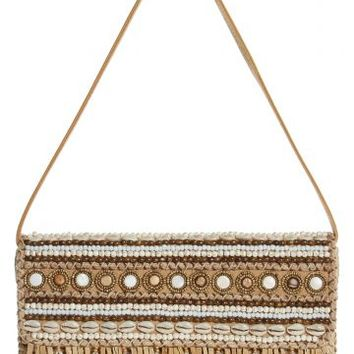 Lali Embellished Straw Clutch | Calypso St. Barth