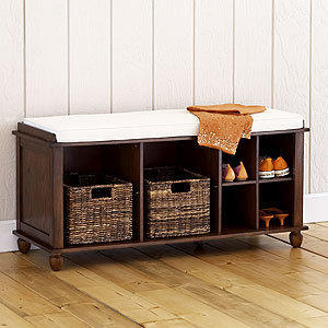Eureka storage bench living room from cost plus world market for Living room bench with storage