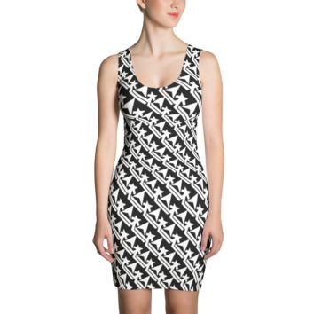 Pattern Crown Logo (Black And White) Dress