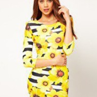 sunflower stripe longsleeve dress | ASOS