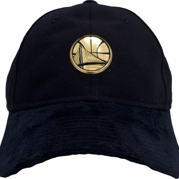 Golden State Warriors 2017 NBA On Court Player Worn Black and Gold 920 Dad Hat