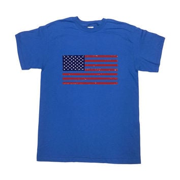 USA Flag Shirt July 4th T-Shirt Memorial Day TShirt Fourth of July USA T-Shirt America T-Shirt Patriotic Cool Mens Ladies Unisex Tee - SA262