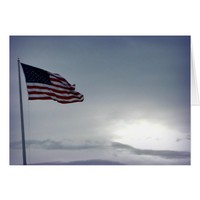 American Flag Veterans Day Card