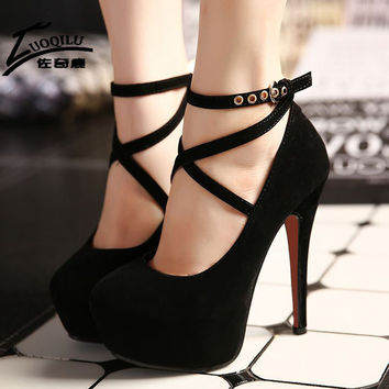 2017 Sexy Women Shoes Red Bottom High Heels Pumps Platform Shoes Wedge Ladies Wedding Shoes Woman Black blue Extreme High Heels
