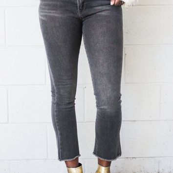 Free People Straight Crop Jean