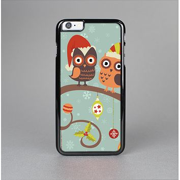 The Retro Christmas Owls with Ornaments Skin-Sert for the Apple iPhone 6 Plus Skin-Sert Case