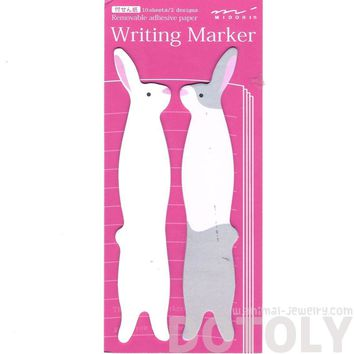 Bunny Rabbit Shaped Animal Themed Sticky Post-it Writing Memo Marker Pad Bookmark Tabs