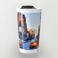 Downtown New York Travel Mug by Haroulita | Society6