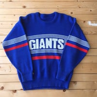 Rare Vintage New York Giants wool Sweater NFL footbal League Sports 80s Unisex Clothing