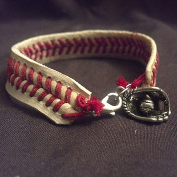 Baseball Lace Bracelet by BASEBALLWISHES on Etsy