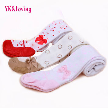 Infant Tights Girls Leg Warmers Children's Baby Fall Stockings Fashion Cotton Tights With Bowknot For 0-2yrs Newborn Girl Tight