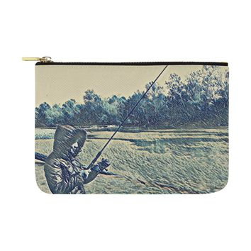 Levi Thang Fishing Design 5 Carry-All Pouch 12.5''x8.5''