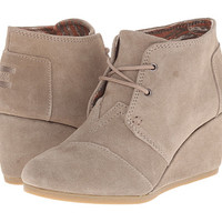 TOMS Desert Wedge Taupe Suede - Zappos.com Free Shipping BOTH Ways