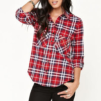 Nollie Bullet Stud Flannel Shirt at PacSun.com