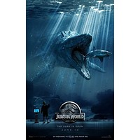 Jurassic World Movie Poster Standup 4inx6in