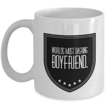 """Fun Love Affirmation Gift For Birthday Anniversary - Valentines Day Gifts For Boyfriend From Girlfriend - Valentines Day Gifts For Him - Fun Mugs For Men - White Ceramic 11"""" Vday Jar Cup For Coffee & Cookies"""