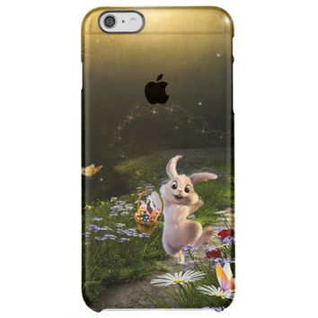 Fantasy Bunny with basket of Easter Eggs Clear iPhone 6 Plus Case