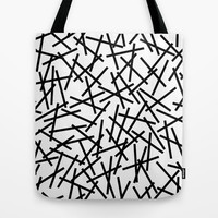 Kerpluk Black on White Tote Bag by Project M