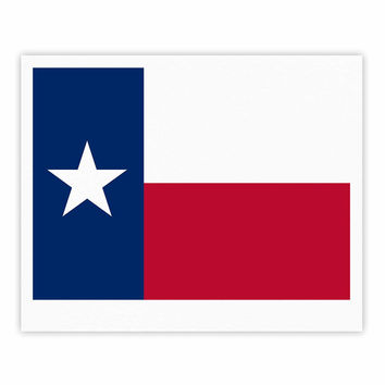 "Bruce Stanfield ""Texas Flag"" Red Blue Fine Art Gallery Print"