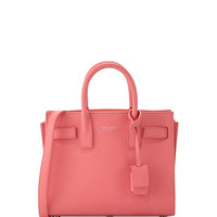 Saint Laurent Sac de Jour Mini Grained Leather Tote Bag, Light Rose