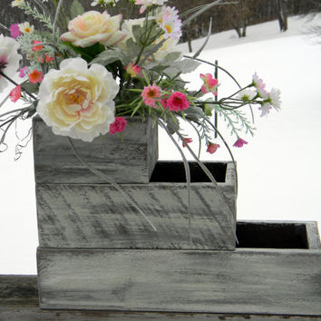 Planter Boxes, Wedding Centerpieces, Herb Garden, Light Green Vase Shabby Chic, Rustic