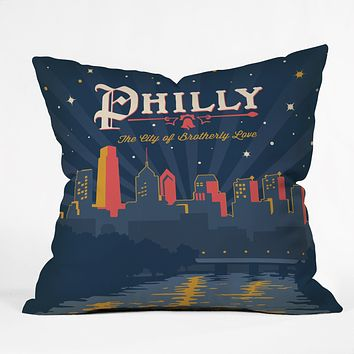 Anderson Design Group Philly Throw Pillow