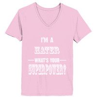 Im A Hater - Ladies' V-Neck T-Shirt