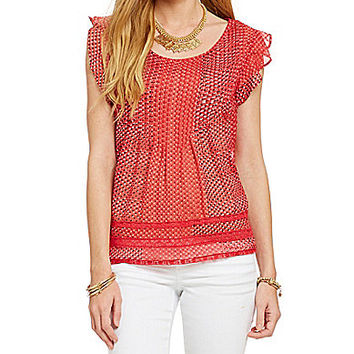 Jessica Simpson Anika Top - Raspberry