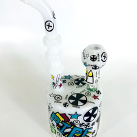 "Art Print Water Pipe (7"")"