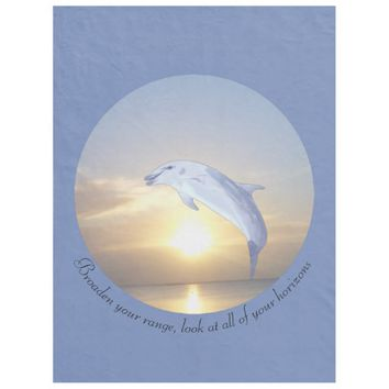 Horizons Quote by Kat Worth Fleece Blanket