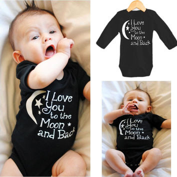 To The Moon and Back Graphic Onesuit for NB Girls NB Boys
