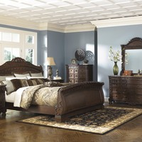 North 5 Pc. Shore - Dresser, Mirror & Queen Sleigh Bed