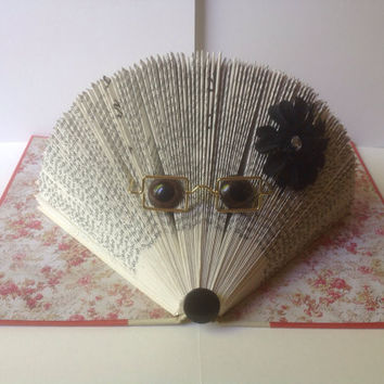 Book Art Hedgehog Folded Book