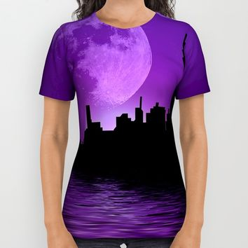 Purple City All Over Print Shirt by InDepth Designs