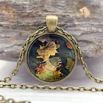 Game of Thrones - Westeros Map - Pendant Necklace