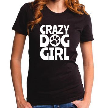 Dog Girl T Shirt Cute Animal Puppy Doggie Lover