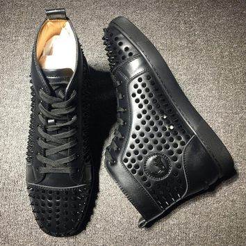 Cl Christian Louboutin Louis Spikes Style #1823 Sneakers Fashion Shoes - Best Deal Online