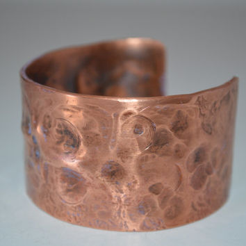 Air Chasing Copper Cuff, Copper Tube Bangle, Rustic Copper Bracelet, Rustic Cuff Bangle, Copper Cuff, Copper Jewelry, Handcrafted Jewelry