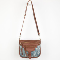 T-Shirt & Jeans Bandana Print Crossbody Bag Blue Combo One Size For Women 22907724901