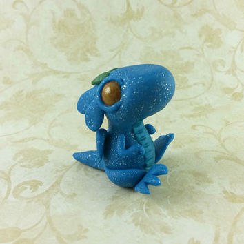 Baby Clay Dragon Figurine, Polymer Clay Creature Dragon Figure, Baby Dragon Sculpture,Polymer Clay Dragon, Adorable Dragon, Dragon Hatchling