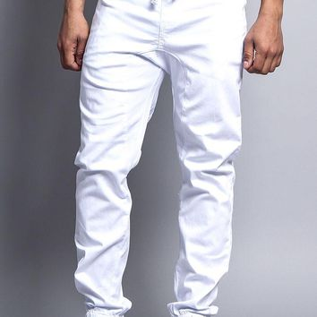 Men's Jogger Twill Pants JG804 (White)